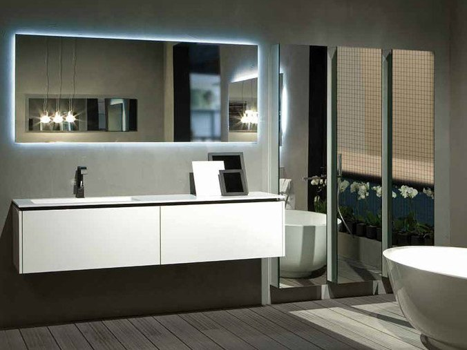 Lacquered wall-mounted vanity unit K.FORTY   Single vanity unit by RIFRA