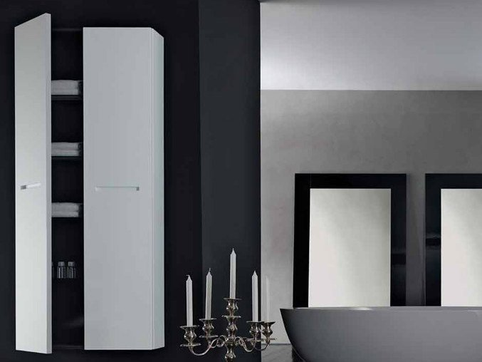 Tall suspended bathroom cabinet ZERO | Tall bathroom cabinet by RIFRA