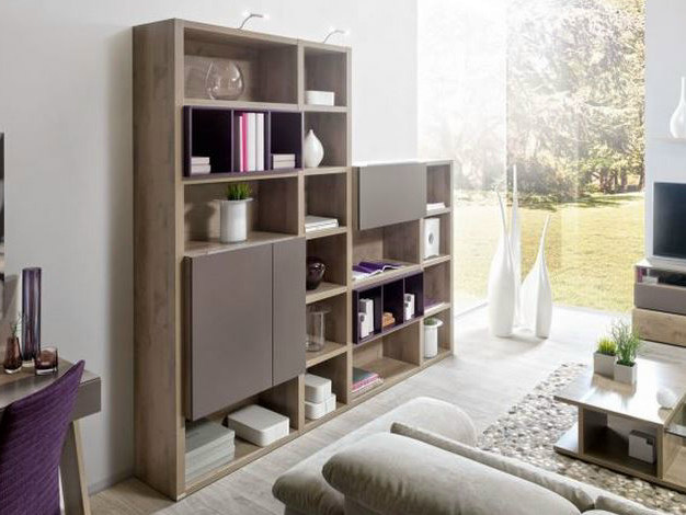 Open sectional custom bookcase PREFACE CONFIGURATION 9 by GAUTIER FRANCE