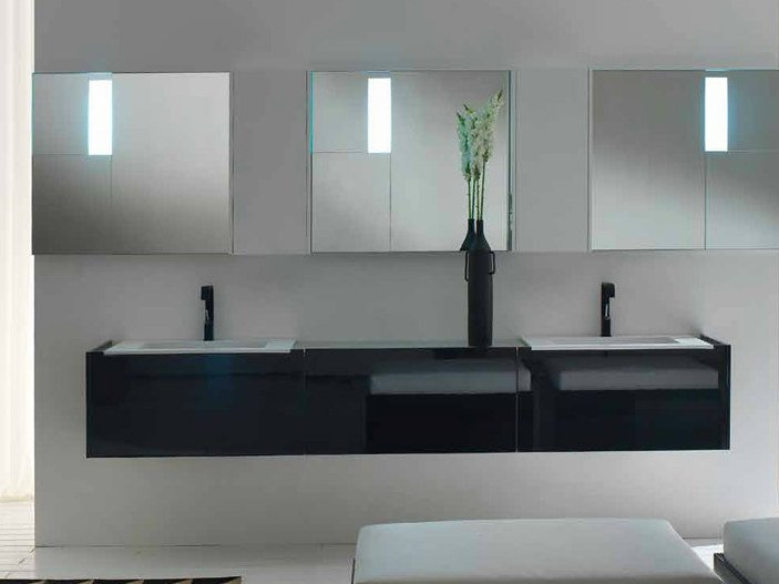 Lacquered wall-mounted vanity unit LESS | Wall-mounted vanity unit by RIFRA