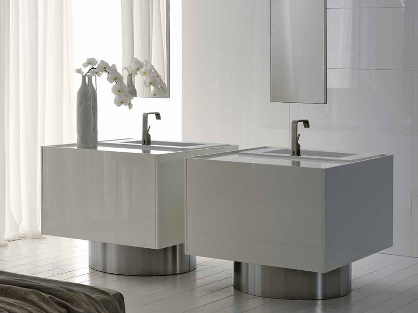 Lacquered vanity unit LESS | Vanity unit by RIFRA