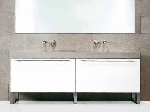 Lacquered vanity unit FONTE | Vanity unit by RIFRA