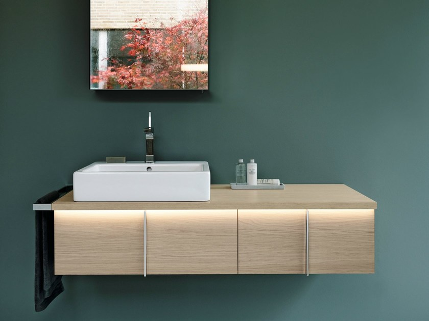 Single wall-mounted vanity unit with drawers VERO | Vanity unit by Duravit
