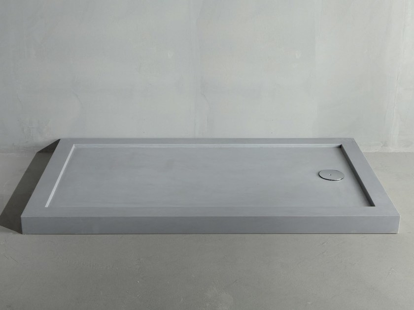 Rectangular cement shower tray LINE CONCRETE by RIFRA