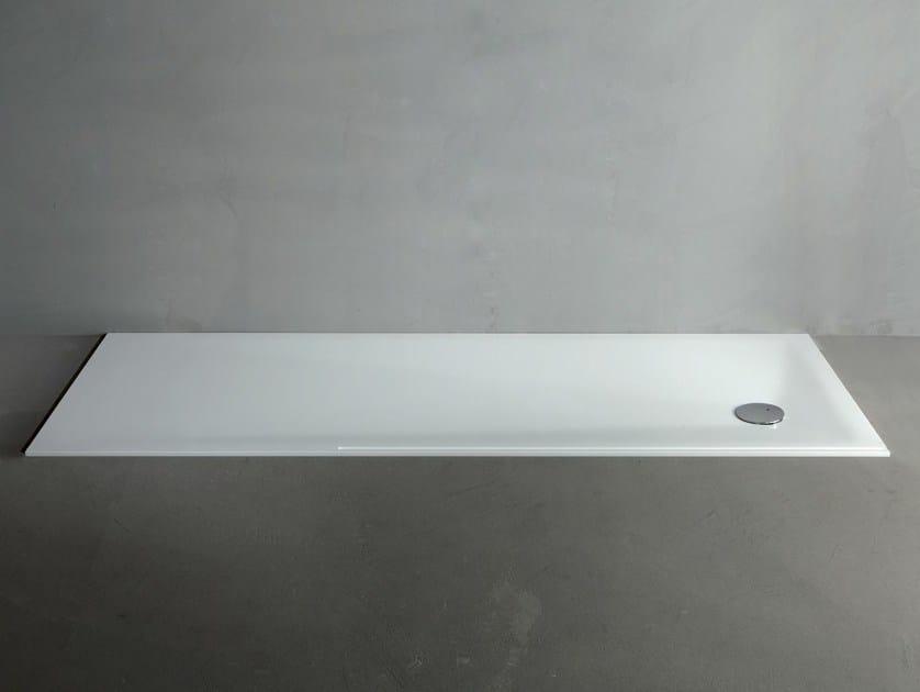 Extra flat Corian® shower tray LINE ZERO by RIFRA