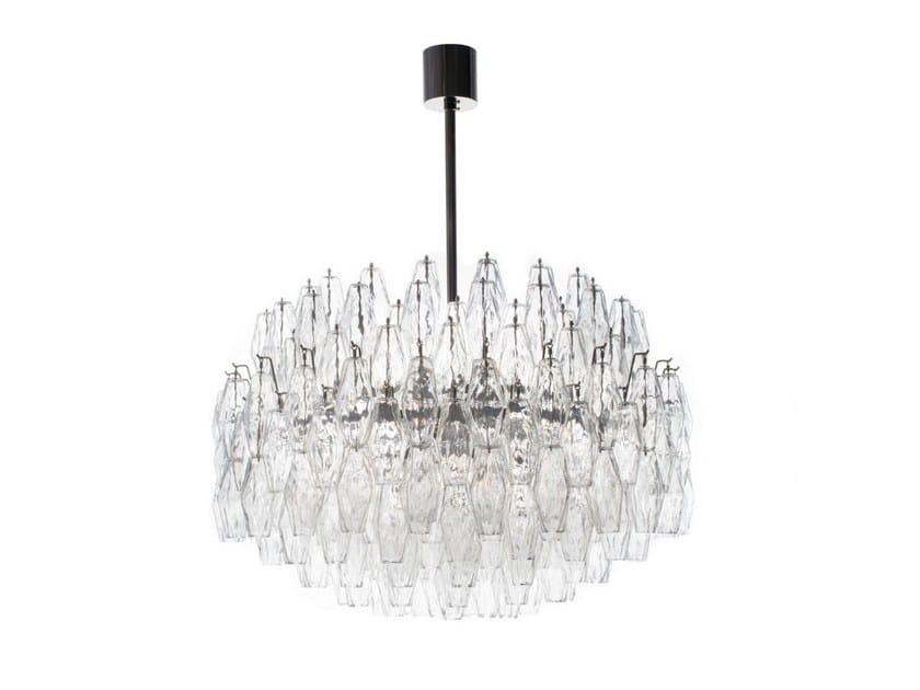 Murano glass chandelier POLYÈDRE by Veronese