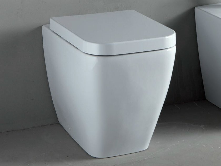 White-paste toilet THIN | Toilet by RIFRA