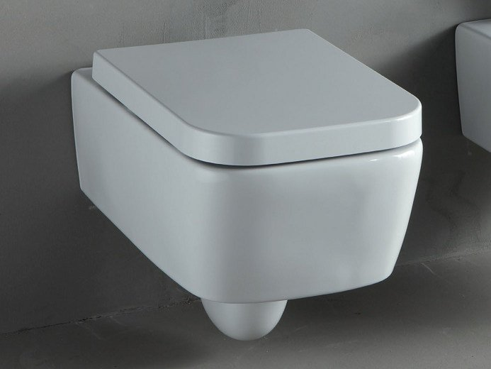 Wall-hung white-paste toilet THIN | Wall-hung toilet by RIFRA