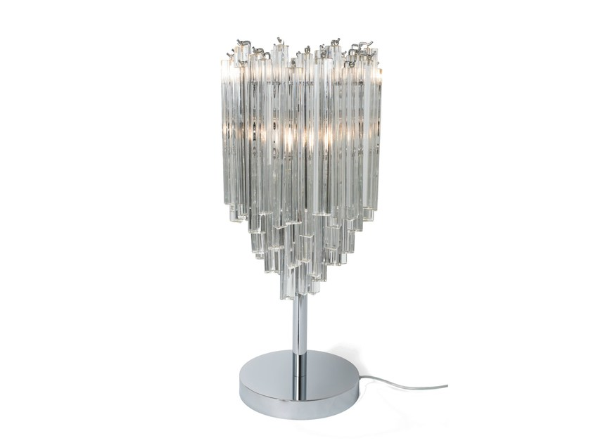 Murano glass table lamp TRIÈDRES | Table lamp by Veronese