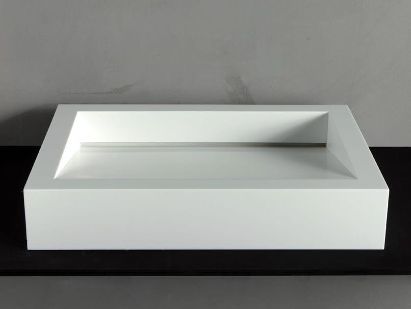 Countertop Corian® washbasin GAP-01 by RIFRA