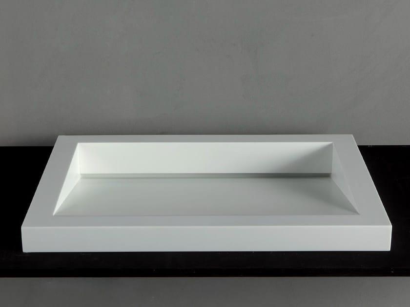 Countertop Corian® washbasin GAP-05 by RIFRA