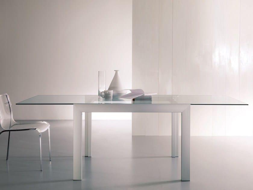 Rectangular crystal table AXEL by Bontempi