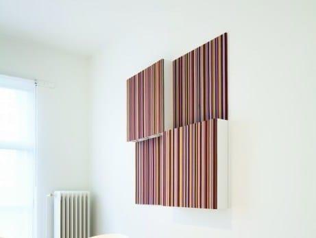 Fabric decorative acoustical panel BUZZIRESOFUSER by BuzziSpace