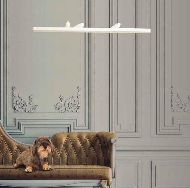 Lampada a sospensione a LED SMOON BIRDS LOOKING AT by Beau & Bien