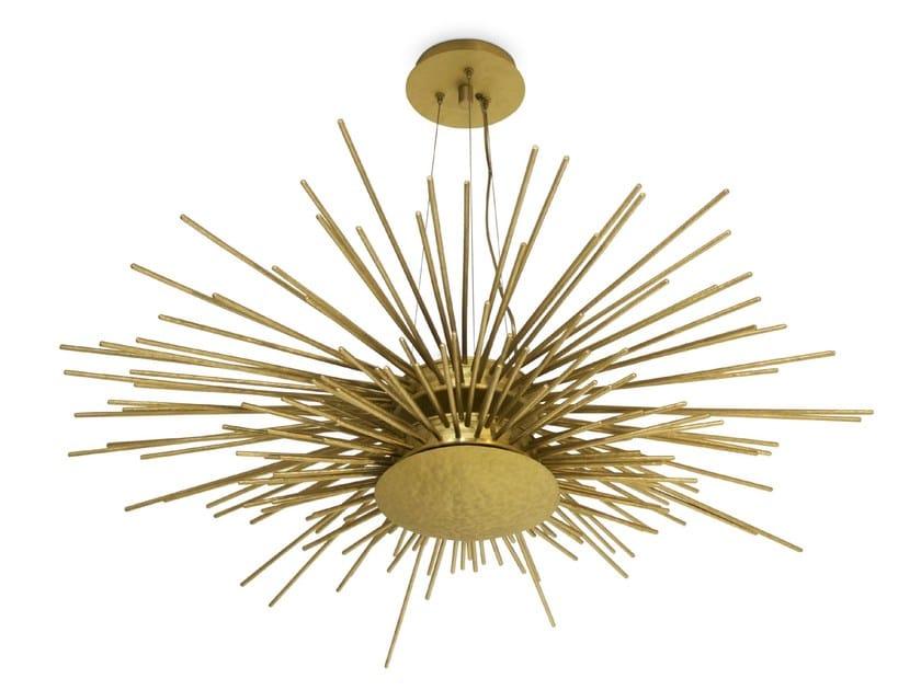 Lampada a sospensione in ottone SOLEIL | Lampada a sospensione by BRABBU