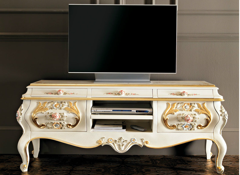 Low lacquered TV cabinet 11105 | TV cabinet by Modenese Gastone