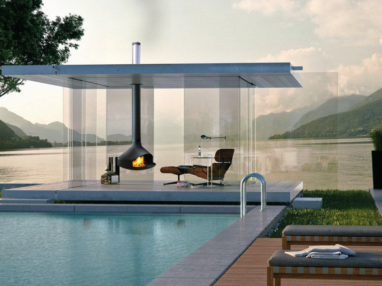 Outdoor fireplace ERGOFOCUS | Outdoor fireplace by Focus creation