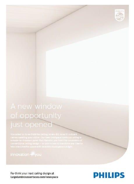 Luminous Ceiling Con Philips Per Integrata Large Onespace Illuminazione Surfaces Controsoffitto Pannello HIE9D2
