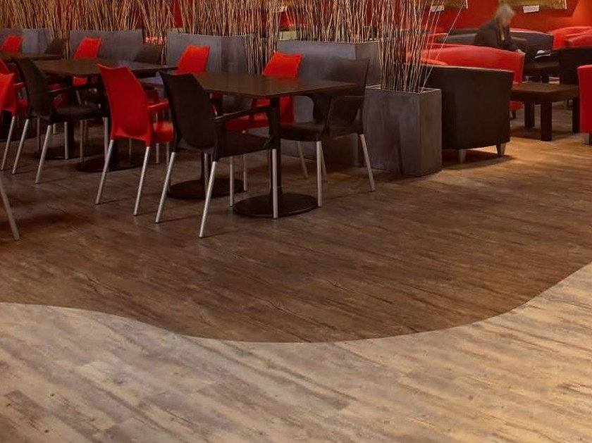 Antibacterial flooring with wood effect NERA CONTRACT by gerflor
