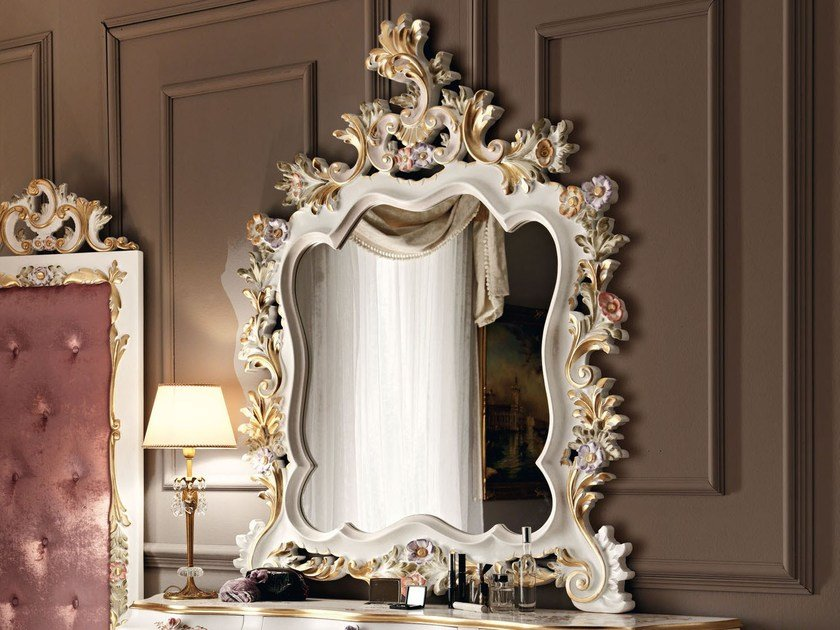 Wall-mounted framed mirror 11626 | Mirror by Modenese Gastone