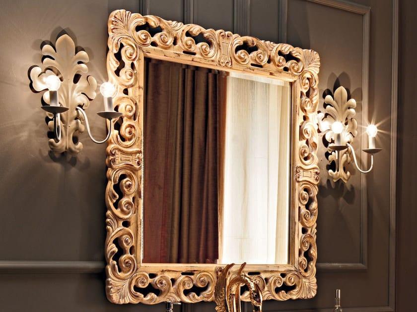 Wall-mounted framed mirror 11634 | Mirror by Modenese Gastone