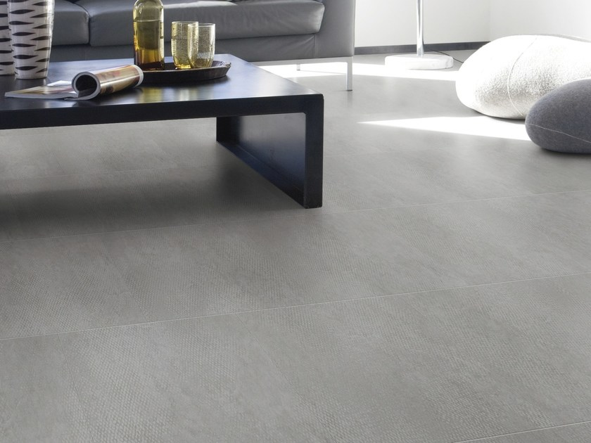 Anti-slip synthetic material floor tiles with stone effect ARTLINE MINERAL by gerflor