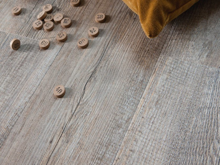 Synthetic material floor tiles SENSO RUSTIC 6' by gerflor
