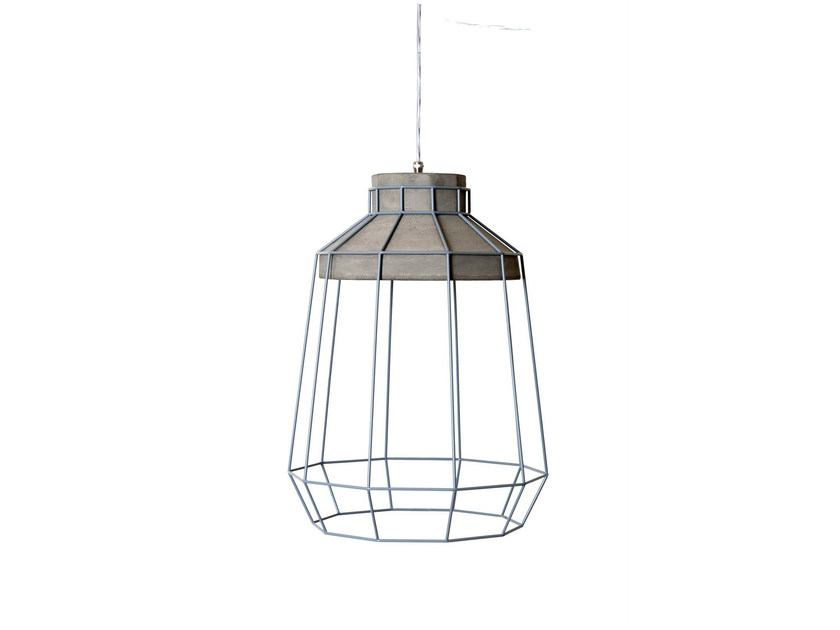 Cement pendant lamp BIANCALUCE by Karman