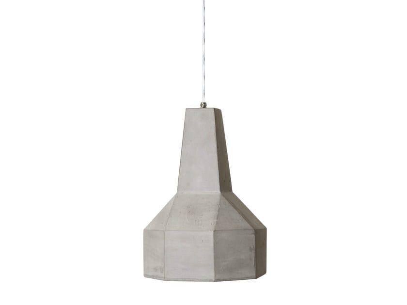 Lampada a sospensione per esterno in cemento BRONTOLO by Karman