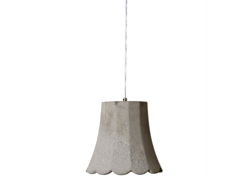 Cement outdoor pendant lamp MAMMOLO by Karman