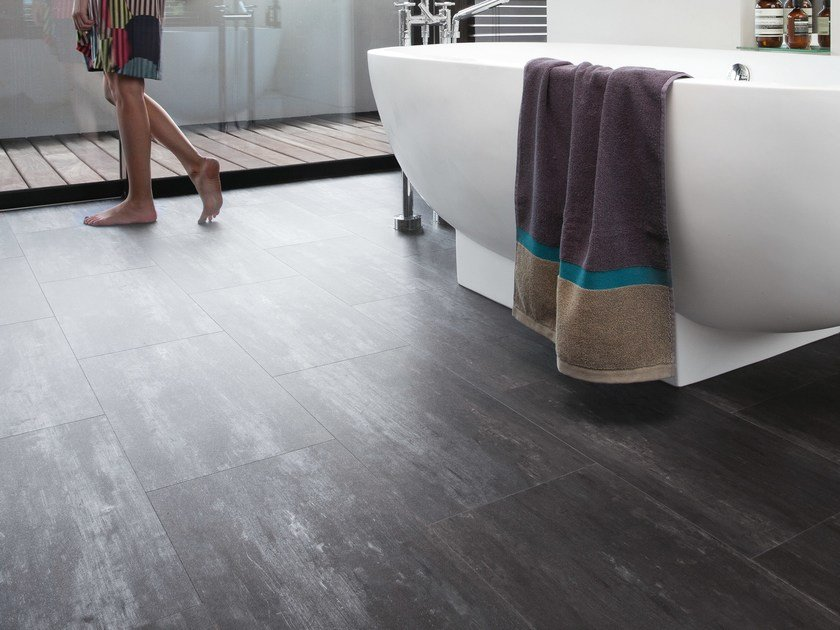 Synthetic material floor tiles SENSO URBAN 7.25' by gerflor
