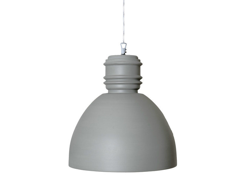 Grey ceramic pendant lamp VIA RIZZO 7 | Ceramic pendant lamp by Karman