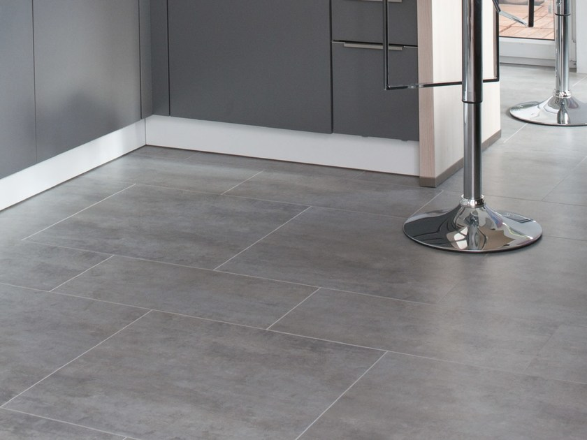 Acrylic stone floor tiles CARACTERE DISTINCTIVE by gerflor