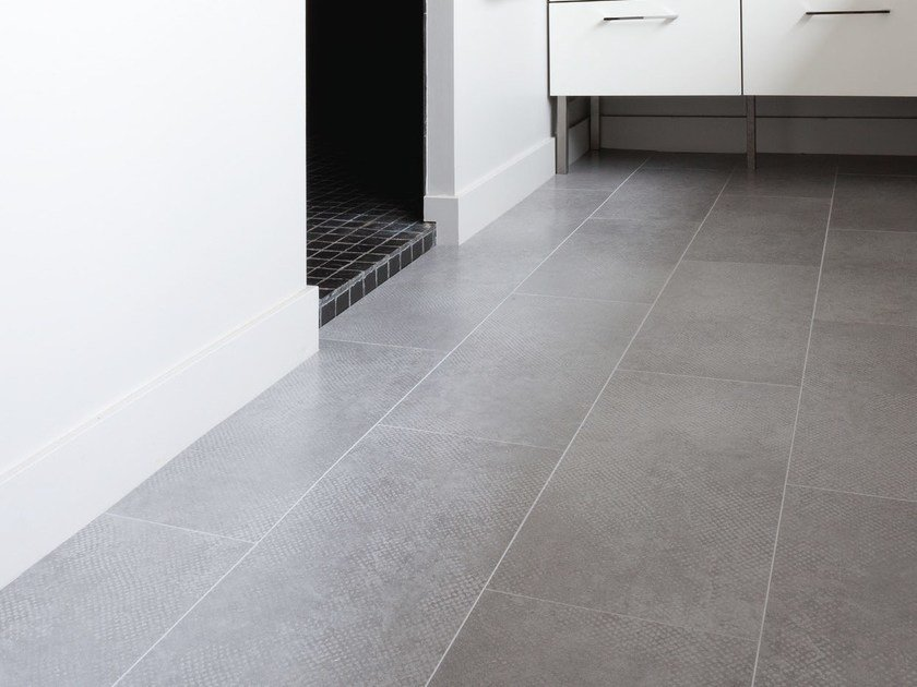 Ultra thin composite material floor tiles CARACTERE URBAN by gerflor