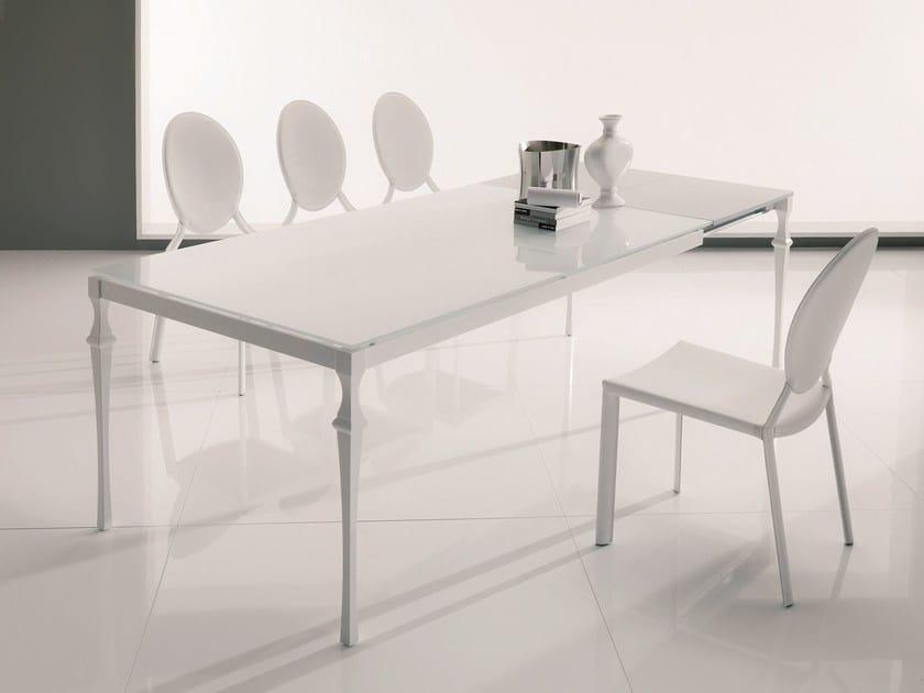 Rectangular crystal table CORINTO | Extending table by Bontempi