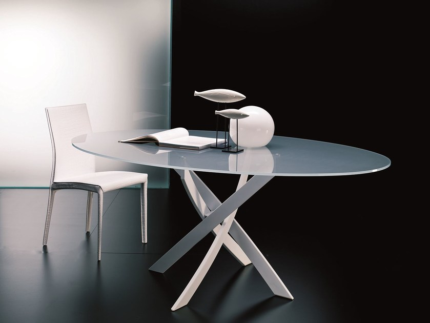 BARONE | Oval table By Bontempi