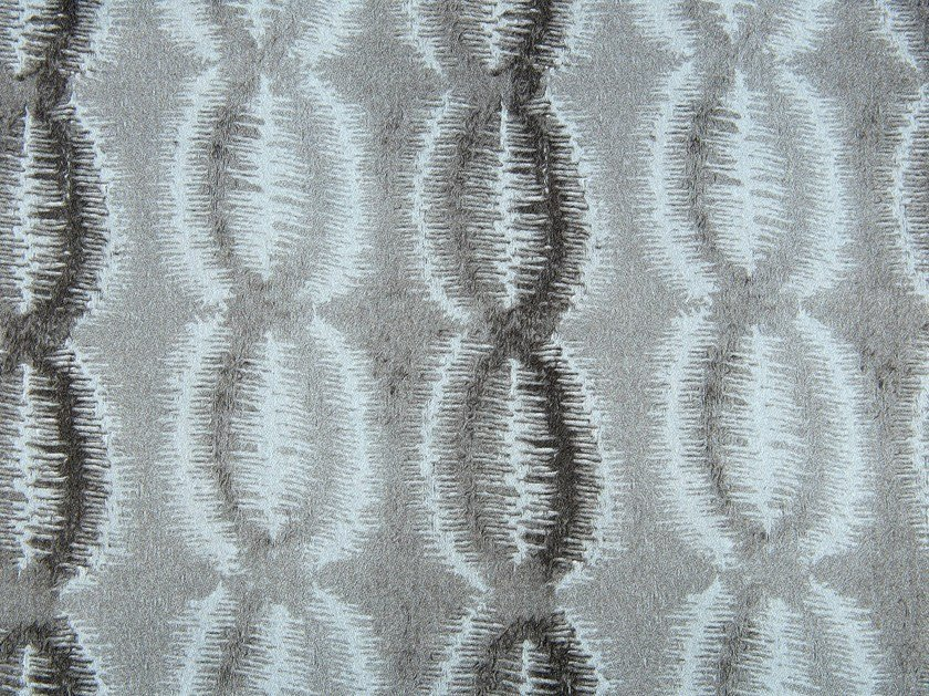 Linen and cotton fabric with graphic pattern TOPEKA by KOHRO
