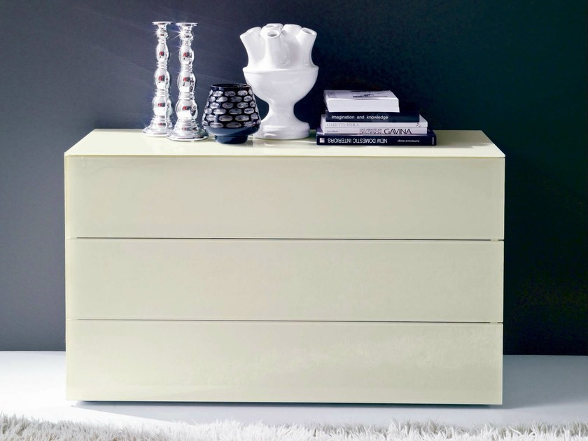 Wooden chest of drawers ENEA by Bontempi