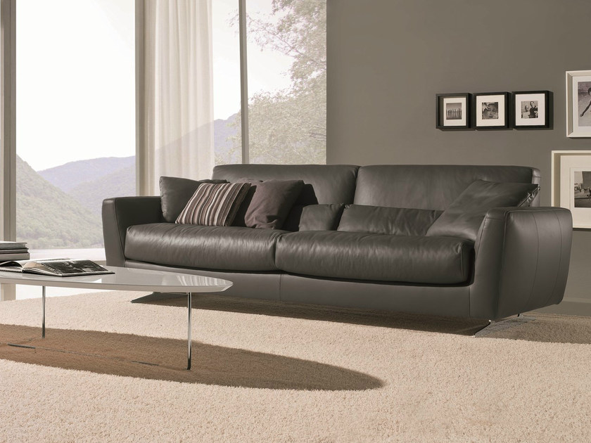 3 seater sofa MIZAR | Leather sofa by Bontempi