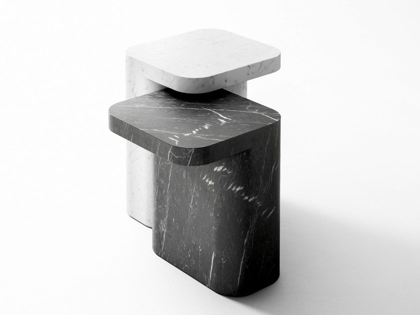 Marble side table PETRA | Marble coffee table by RETEGUI