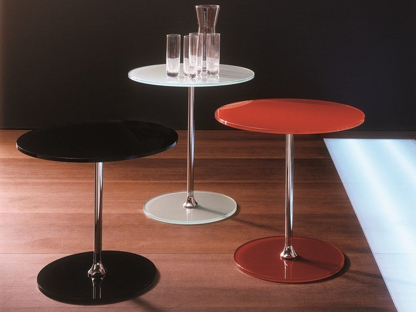 Low round crystal coffee table SIRT by Bontempi