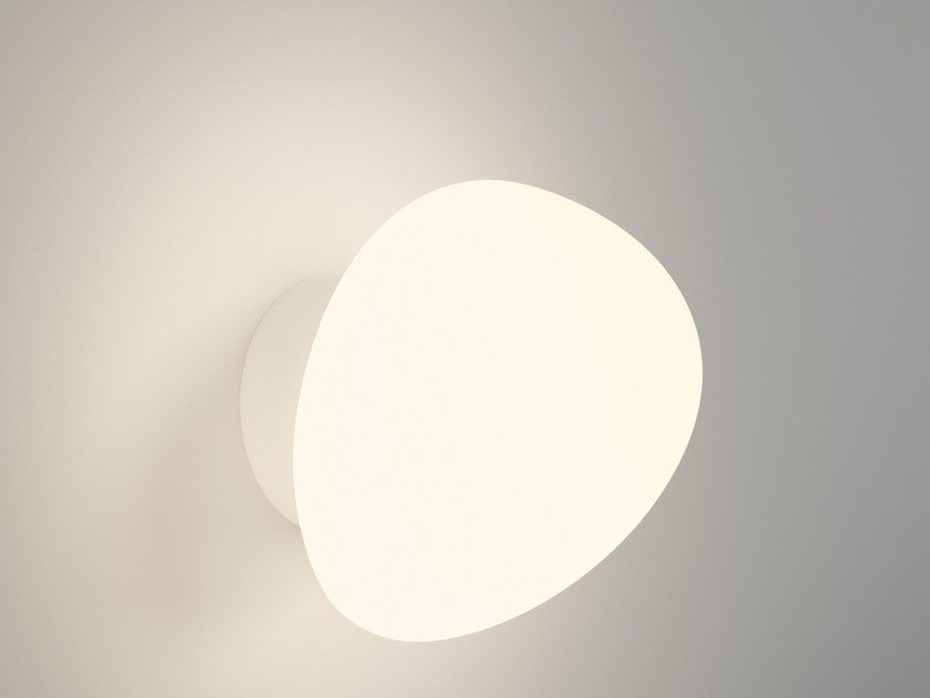 Opal glass wall light SUITE 6050 by Vibia
