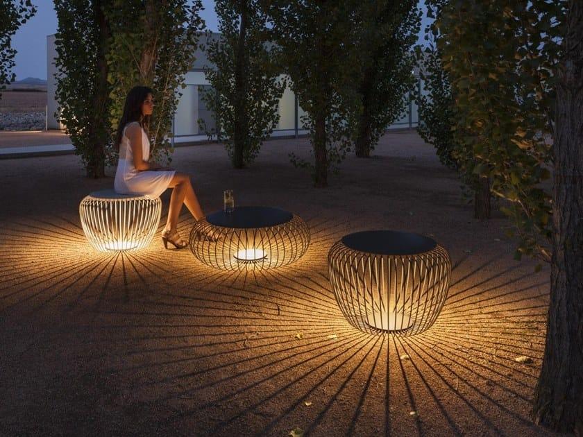 Lampada da terra per esterno a LED in acciaio MERIDIANO by Vibia