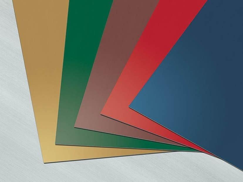 Panel for facade COLOR LINE by RHEINZINK Italia