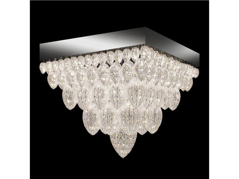 Plafoniera Rettangolare Cristallo : Plafoniera in acciaio con cristalli arabesque tutankhamon vgnewtrend