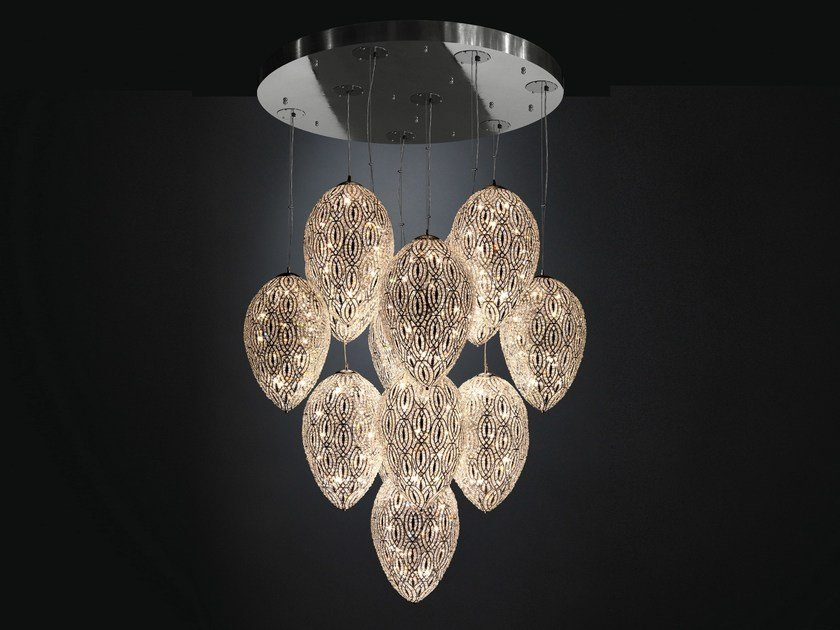 Pendant lamp with crystals ARABESQUE EGG | Crystal pendant lamp by VGnewtrend