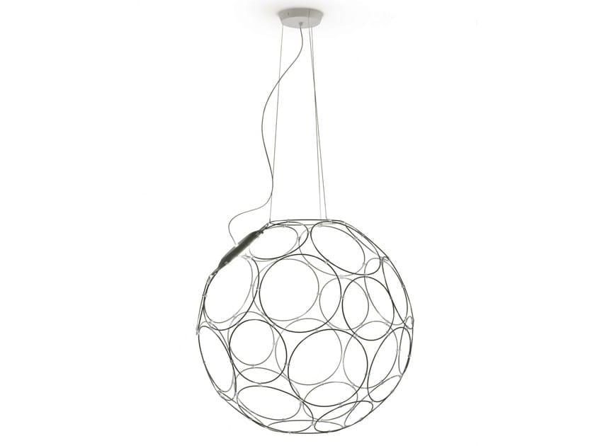 LED steel pendant lamp GIRO by Fabbian