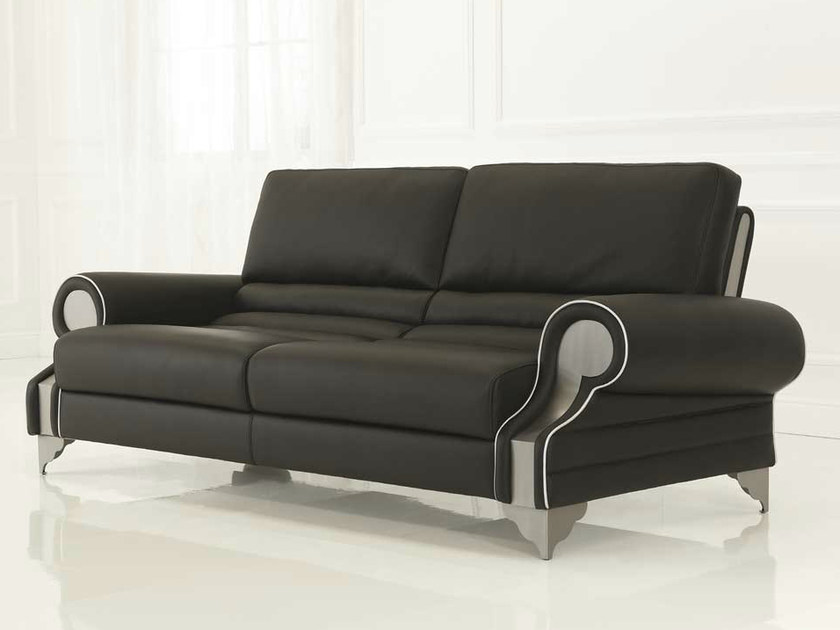 Leather sofa LOUVRE | Sofa by Formenti
