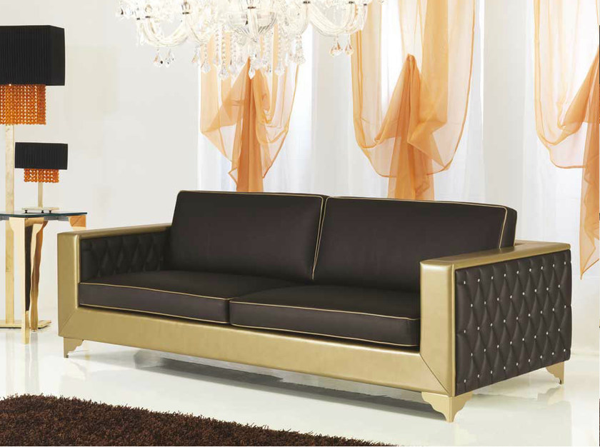 Tufted leather sofa MUSEO | Leather sofa by Formenti