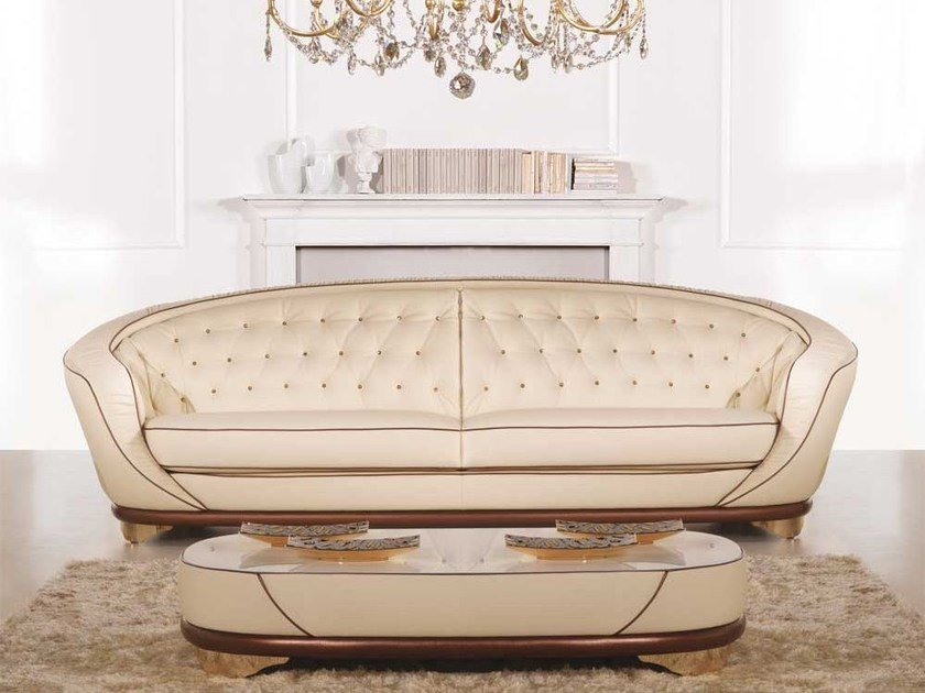 Tufted leather sofa SPACE | Sofa by Formenti